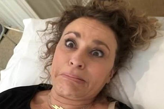 Nadia Sawalha shared that it is good to get your smear test out the way