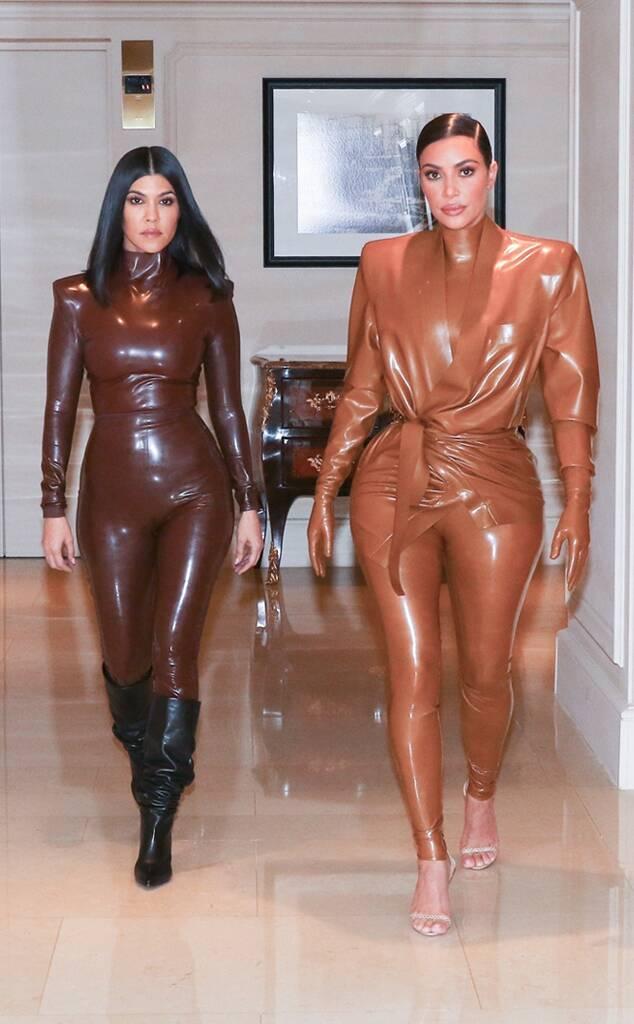 Kim Kardashian, Kourtney Kardashian, Paris Fashion Week