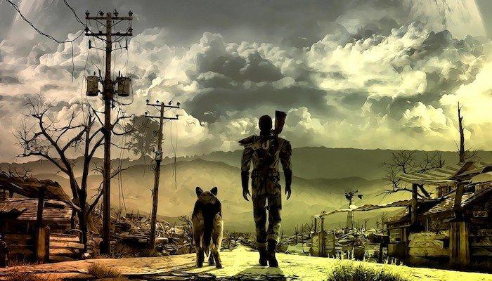 Man Rifle Dog Fallout Videogame