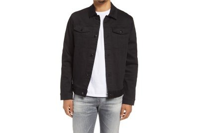 Image may contain Clothing Apparel Jacket Coat Blazer Sleeve Human Person Long Sleeve and Pants