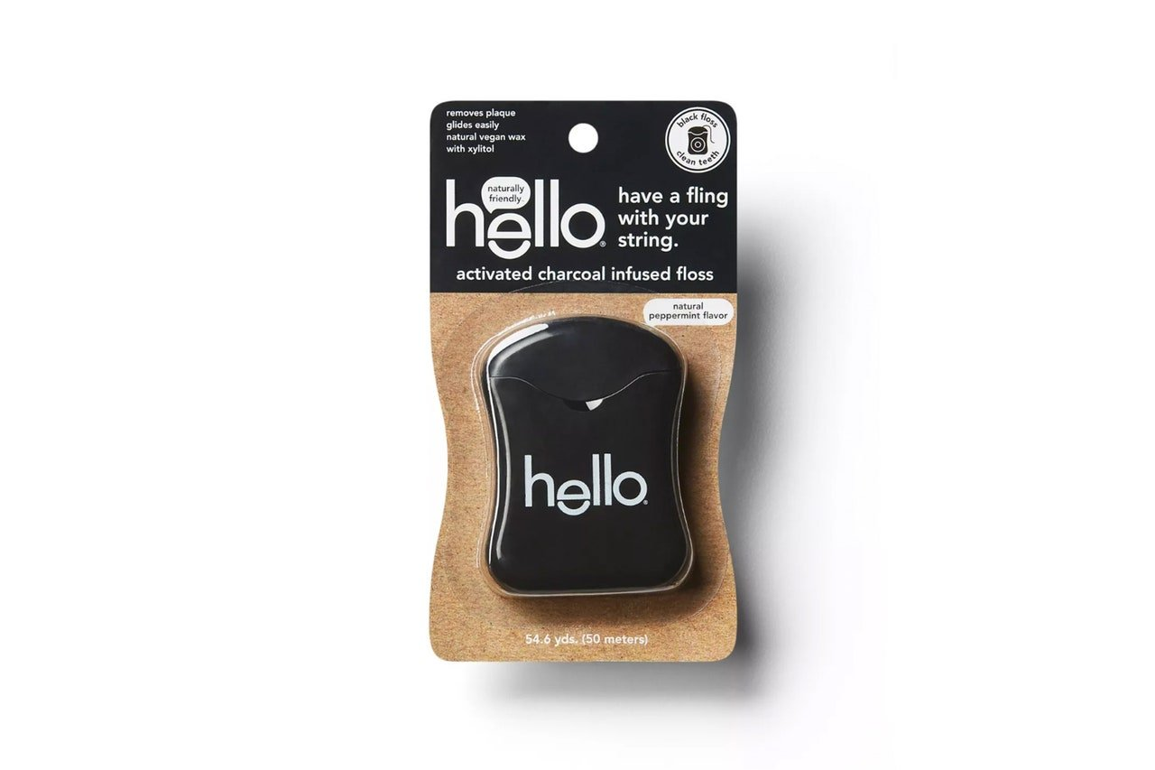 Hello activated charcoal floss