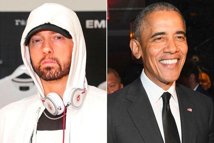 Eminem and Barack Obama