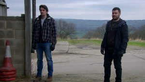 Mack and Aaron are in shock in Emmerdale