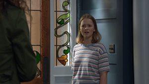 Liv in Emmerdale is shocked when Chas arrives in Emmerdale