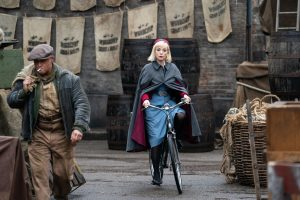 Call the Midwife Trixie on a bike