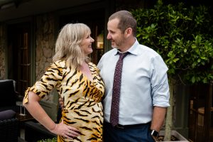 Lucinda Cowden and Ryan Moloney in Neighbours